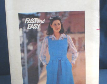 Vintage Butterick Pattern 5414 Misses Fast and Easy Jumper Size 16