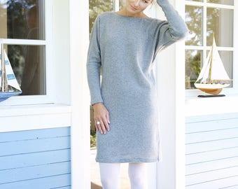 Merino Wool Dress | Women Dress | Oversized Sweater | Dress With Kimono Sleeves | Comfy dress | Warmly Dress | Winter dress| Elegant dress