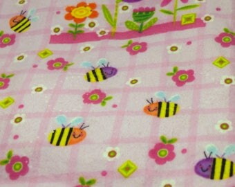 Clearance Fabric! ~ Bees and Flowers Baby Fabric ~ Spring Baby Girl *Store Closing Sale*