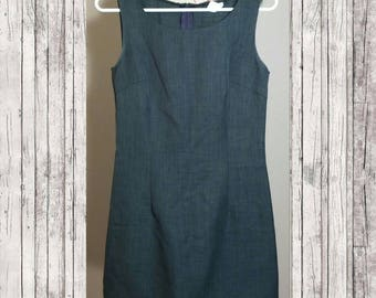 Vintage Gray Sheath Dress Size S