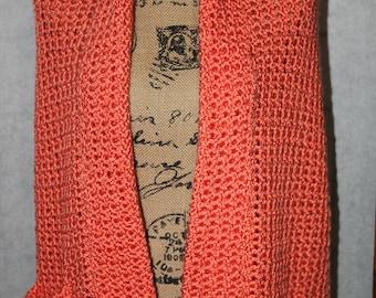 Ladies wrap / shawl  Mango color with  pockets