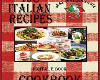 438 Delicious Italian Recipes E-Book Cookbook Digital Download