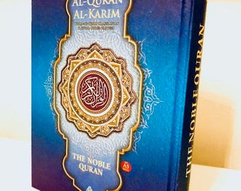 NOBLE Blue Quran Word for Word Arabic to English Translation Colour Tajweed A5