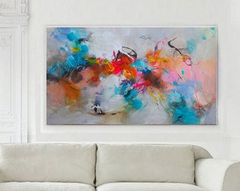 original abstract acrylic painting giclee print on canvas large wall art canvas modern