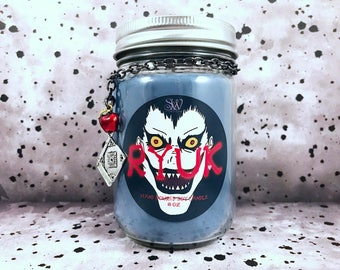 Ryuk Scented Candle | Death Note | Anime | Soy | Wax | Divine Rule | Demon | Birthday | Anniversary | L | Manga | Light Yagami | Misa |