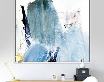 Printable Abstract Art, Minimalist, Modern art, Blue art, Living Room Art, Printable art, Instant Download Art, Square art Blue Abstract Art
