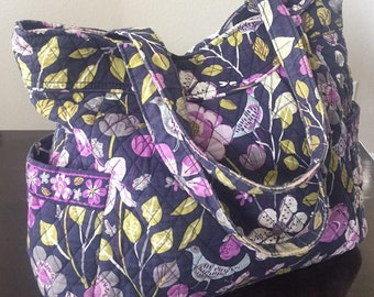 Vera Bradley Handbag-Pleated Tote, wallet, and wristlet-3 piece set