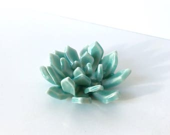 Meditation Room Decor -  Green - Incense Holder - Succulent