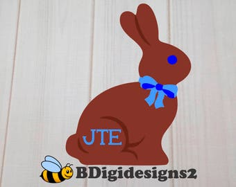 Personalized Boy Easter Bunny Heat Press Transfer
