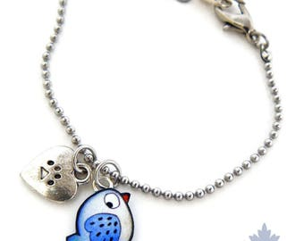 Kids bracelet little Blue Bird