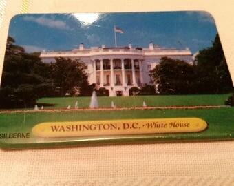 White House Metal Souvenir Magnet