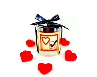 Valentines scented soy candle, Valentines gift for him/her, Couple gifts,Anniversary gift for him/her,I love you gift for him/her,love gifts