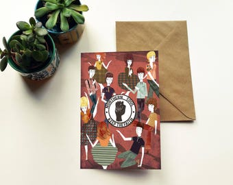 Northern Soul 'Keep the Faith' Dancing Illustration Birthday Greeting Card