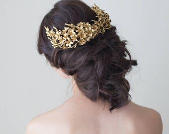 Orange blossoms headpiece. Bridal headpiece. Back headpiece. Boho headpiece. Floral crown. Wedding headpiece. Style 617