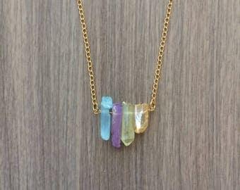 Crystal Empire - Pastel Quartz Necklace