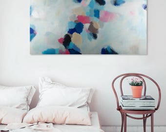 Modern Art Abstract Painting, Original Painting Canvas Art, Abstract Painting Canvas Art, Living Room Art, Large Abstract Painting, blue