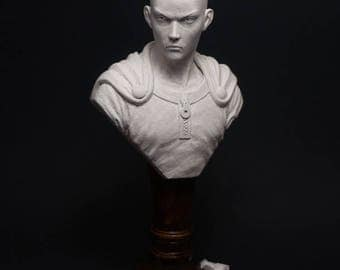 Saitama (One Punch Man) - Hand-carved stone sculpture