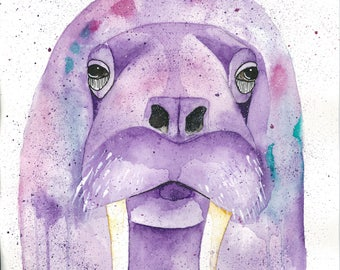 Walrus art print-ATK collective-attack collective-arctic animal