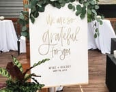 Welcome Sign by Hawaii Calligraphy, We Are So Grateful For You, Calligraphy Welcome Sign, Calligraphy Welcome, Handwritten Signs, Calligraph