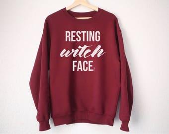 Resting Witch Face Sweatshirt - Halloween Shirt - Halloween Sweatshirt - Resting Witch Face Shirt - Witch Shirt - Funny Halloween Sweatshirt