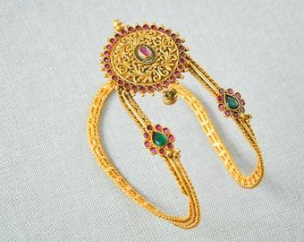 Armband matt gold Indian temple nagas vanki armlet armband   South Indian telugu  bridal Jewellery wedding bahubali jewelry accessory