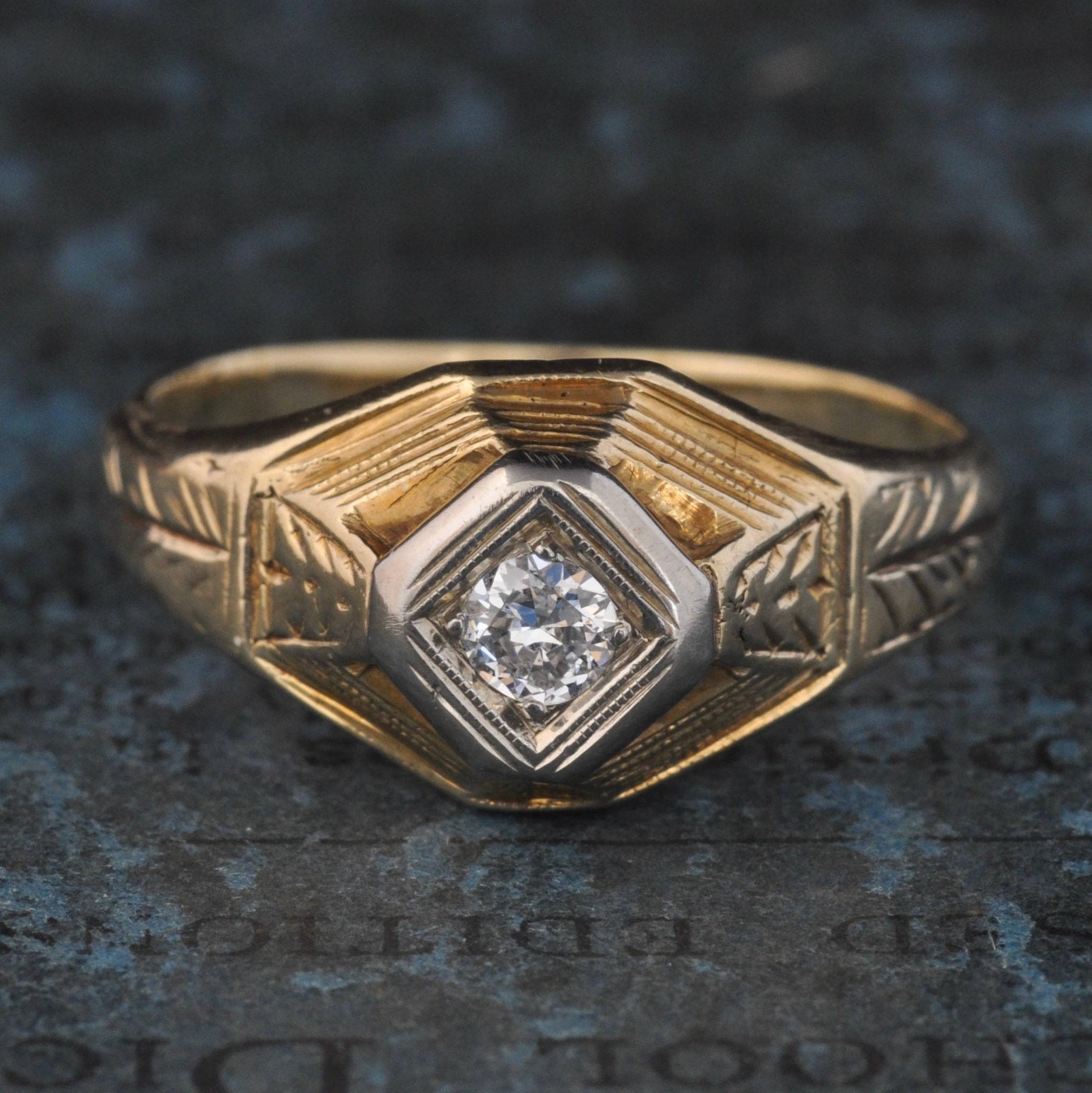 Ausverkauf Antike Verlobungsring Art Deco Verlobungsring 1920