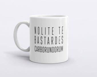 Nolite te bastardes carborundorum, The Handmaid's Tale Fan Mug, Feminism mug, Don't Let the bastards grind you down mug
