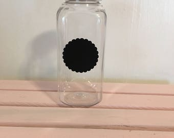 Plastic Milk Container with Chalkboard sticker