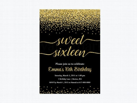 Sweet 16 birthday invitation sweet sixteen birthday invitation 999 il570xn filmwisefo