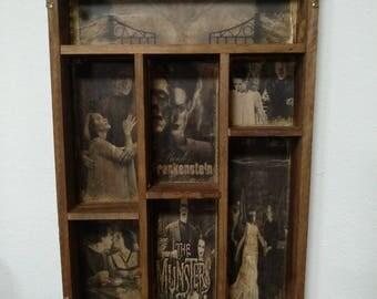 Bride and Frankenstein Cabinet of curiosities