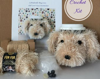 Crochet Gift, Crochet Kit, Amigurumi Kit, Crochet Pattern Dog, Crocheting Gift, Crocheter Gift, Crochet Dog Pattern, Dog Crochet Pattern