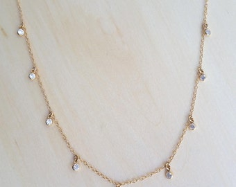 Cubic Zirconia Shaker Necklace