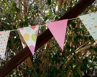 HAPPY BIRTHDAY  Paper Bunting - Birthyday, Party, Baby Shower, Room decoration