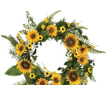 """Sunflower Wreath 22"""""""