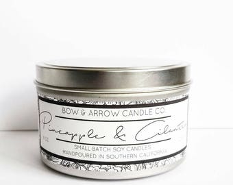 Pineapple Cilantro Natural Soy Candle 8 oz | Eco-Friendly Candle | Soy Candles | Pineapple Scented Candle | Spring Candles | Gift Idea