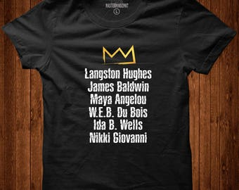 Famous Black Authors Tribute Tee| Black History Month, Black Lives Matter, Black Pride, Black Empowerment
