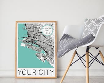 Custom City Map / Personalized Map / Custom Map / Custom City Print / Personalized Map Print / Your City / Custom Art / Custom Print
