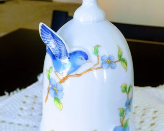 Lovely Vintage Japanese Bluebird Bell - Pristine Condition - circa 1970's