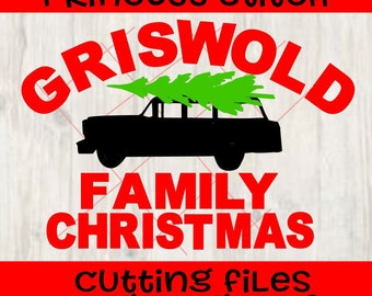 Griswold Family Christmas car tree National Lampoon SVG, dxf, png, digital cut file Silhouette Cricut, shirt file, fun christmas shirt svg
