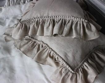 100% Natural Linen Pillowcase Pillow Sham Standard Queen King Euro Pillow Sham Organic Bedding Ruffled Pillow Sham Vintage Pillow Case Slip