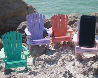 Personalized Cell phone stand, adirondack style, Christmas gift, beach decor