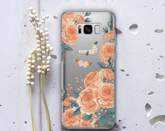 Yellow Roses Case for Samsung Galaxy S8 Case Floral Phone Case Clear Case for Samsung Galaxy Case for Samsung Galaxy S5 S6 Samsung S7 WC1045