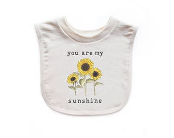 "Organic ""You Are My Sunshine"" Unbleached Bib"