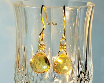 Citrine Earrings, Earrings, Citrine Dangle Earrings Gold, Citrine Gemstone Earrings