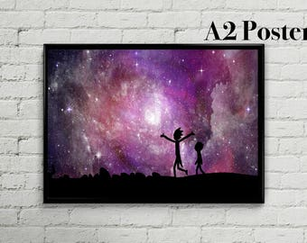 Rick and Morty Poster   Rick and Morty Print   Rick and Morty Art   Wall Decor   A2   Vertical