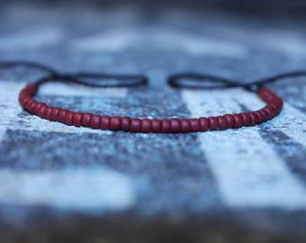 Red String Bracelet - Kabbalah Bracelet - Wish Bracelet - Motivation Bracelet - Black String, Mens gift for him Husband Gift
