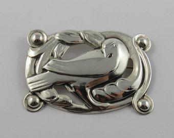 Sterling Silver Coro Dove Brooch
