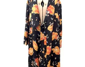 1930s robe dressing gown floral design vintage antique