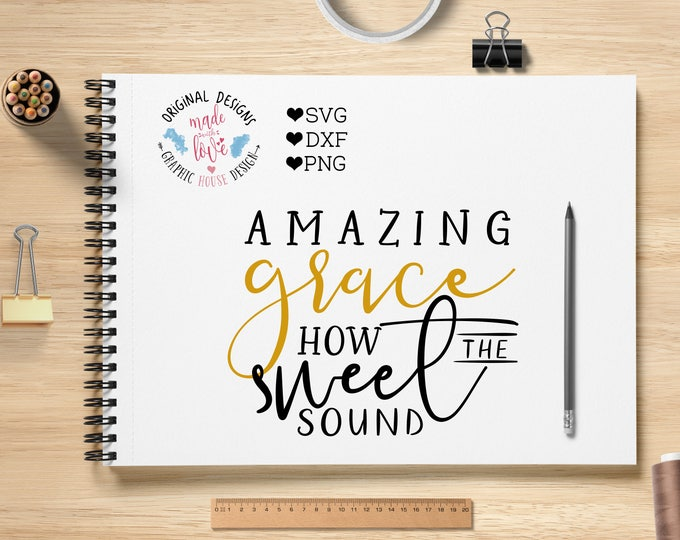 amazing grace svg, cross svg, christian svg, religion svg, bible svg, scripture svg, mug design, decal design, Jesus svg, religious svg