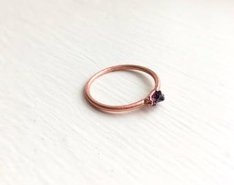 Garnet Stacker Ring